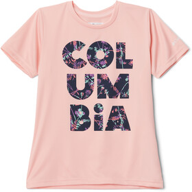 Columbia Petit Pond Graphic SS Tee Girls, pink sand stacked floral